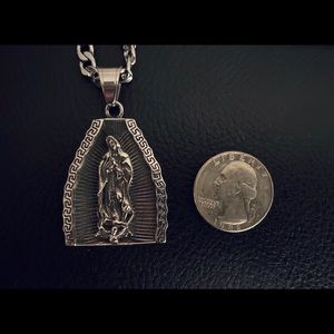 Jewelry - SOLD Stainless steel Guadalupe pendant & necklace